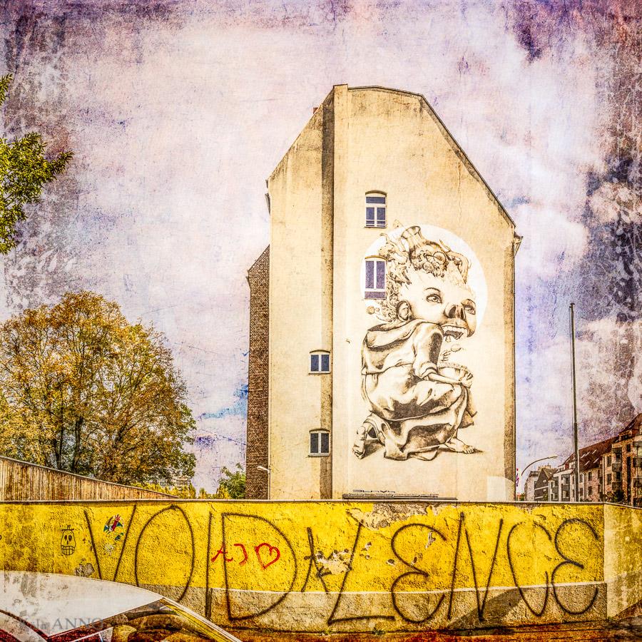 Der Mönch; Graffiti von Claudio Ethos, Ehrenfeld