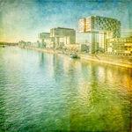 Rheinauhafen, Rhein, Kranhäuser, Schiff,
